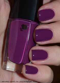 My Beauty Galleria: Lancome Vernis In Love Midnight Rose