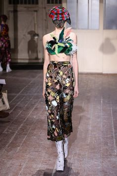 Maison Martin Margiela Couture: Spring 2013. Corset and headpiece made in part with Vintage Feathers trims.