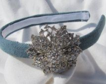 Denim And Diamonds Headband Hairband Head Wrap Fashion Hair