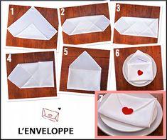 Saint-Valentin: Origami romantique avec serviette de table