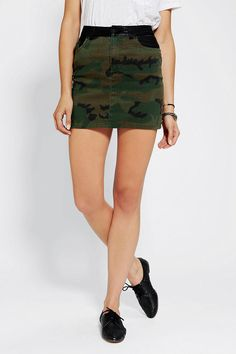 #UrbanOutfitters          #Women #Bottoms           #camo-print #bdg #leather-trim #stretchy #content #vegan #5-pocket #spandex #polyurethane #fly #fitted #pockets #exclusive #construction #waist #polyester #camo #skirt #cotton #zip #care #design #mini #leather                         BDG Vegan Leather-Trim Camo Mini Skirt              Toughen up in this fitted, camo-print mini skirt from BDG with vegan leather trim along the waist and pockets.? Stretchy construction; 5-pocket design.?…