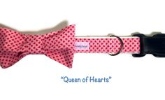 Valentines Day Dog Collar, Pink Dog Collar, Girl Dog Collar, Pink Girl Dog Collar, Pink Bow Dog Collar, Red Hearts Dog Collar  Are you ready for Valentines Day? Or does your pet just need a special collar for a special part of your heart? Here is the pink dog collar or cat collar