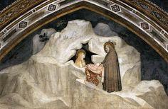 Giotto, Assisi, La Maddalena eremita nella grotta detta Sainte Baume (aprire la foto per la spiegazione)