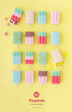 DIY popsicle gift wrapping -  perfect for summer parties or birthdays!
