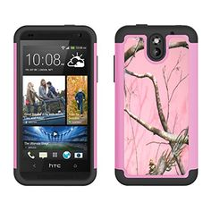 Amazon.com: [ HTC Desire 610 ] ToPerk Cyber Graphic Armor Case + Free HD Screen Protector & ToPerk TM Stylus Pen As Bundle Sale - Pink Forest: Cell Phones & Accessories