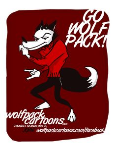 Test design for NC State Wolfpack Cartoons 2014 season by Mark McLawhorn.  From https://www.facebook.com/markmclawhorn.art/photos/a.437209421519.218734.25997776519/10152680576221520/?type=1&relevant_count=1