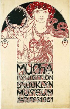Poster for the Brooklyn Exhibition, 1921, Alphonse Mucha