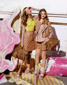 Lindsey Wixson & Frida Gustavsson by Tim Walker for Mulberry SS 2012