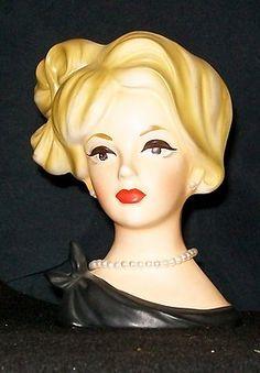 I have this one...just beautifu. VINTAGE LADY HEAD NAPCO C 7293 VASE/PLANTER BLACK DRESS | eBay