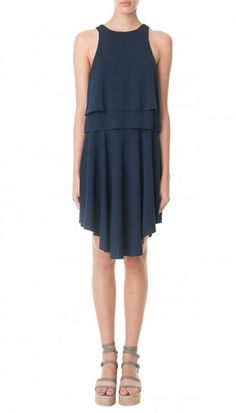 Savanna Crepe Double Layer Dress