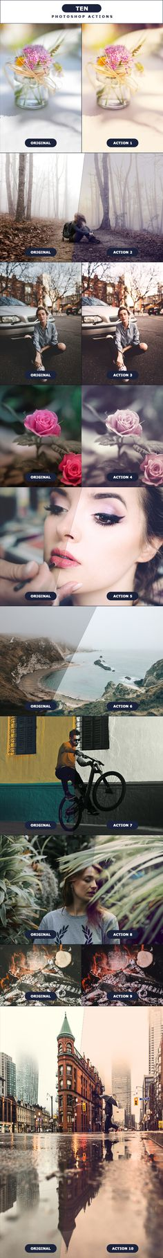 TEN - #Photoshop Actions - #Photo Effects #Actions Download here:  https://graphicriver.net/item/ten-photoshop-actions/19531388?ref=alena994
