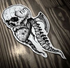 I sincerely am keen on the different shades, lines, and depth. This is certainly a terrific concept if you want a Skull Tattoos, Black Tattoos, Body Art Tattoos, Sleeve Tattoos, Leg Tattoos, Tattos, Norse Tattoo, Viking Tattoos, Tattoo Sketches