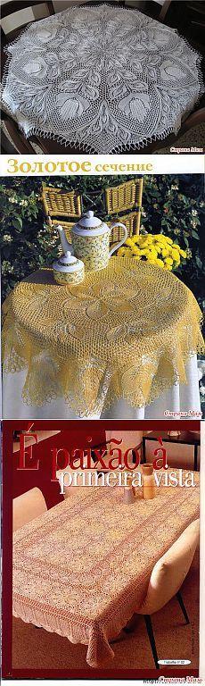 Вяжем пледы покрывала скатерти шторы салфетки