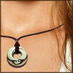 Love!  Spiral Necklace with Two Waves Adjustable Length by MantaWave, $35.00