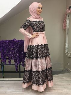 Hijab Dress Party, Hijab Style Dress, Modest Fashion Hijab, Abaya Fashion, Muslim Fashion, Fashion Dresses, Muslim Evening Dresses, Muslim Dress, Hijabi Gowns