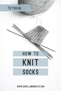 In this step-by-step tutorial, I will show you how to knit a pair of basic socks. In this step-by-step tutorial, I will show you how to knit a pair of basic socks. These socks are k Knitting For Beginners, Easy Knitting, Knitting Socks, Knitting Stitches, Knitting Needles, Knitting Basics, Knitting Machine, Knitting Help, Finger Knitting