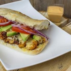 What is for dinner: Mexican chicken sandwich! Spicy seasoned chicken, melted cheese, baked bread and avocado! And okay maybe it's not entirely (or actuall not at all) Mexican but once you've tried it, your hooked!