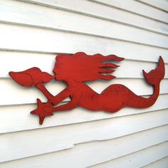 mermaid sign This elegant, swimming mermaid wall decor features a slender body, flowing long hair, and a wide fishy tail, very similar to our original sitting Mermaid (see below). Mermaid Sign, Mermaid Wall Decor, Mermaid Room, Mermaid Art, Mermaid Paintings, Outdoor Wood Signs, Outdoor Decor, Indoor Outdoor, Coastal Cottage