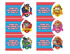 🎂 The perfect addition to your Paw Patrol Party! 🎂 These Paw Patrol Party Tags help make your party an unforgettable experience! 5th Birthday Girls, Fireman Birthday, Birthday Ideas, Birthday Cakes, Birthday Parties, Paw Patrol Party Favors, Paw Patrol Costume, Ninja Turtle Party, Paw Patrol Birthday