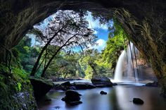 Haew Suwat Waterfall, Khao Yai National Park, Thailand.