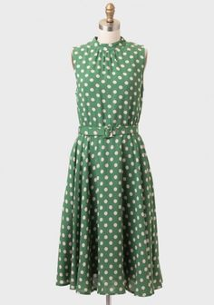 Ruche Alyssa Belted Polka Dot Dress