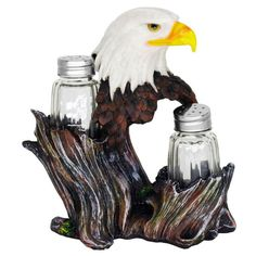 Proud Eagle Salt and Pepper Shakers