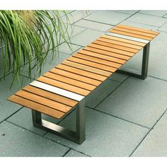 Public bench / contemporary / in wood / galvanized steel - PAXA by ...