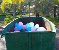 When #celebration is over... #balloon  #bin
