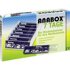 ANABOX 7 Tage Wochendosierer blau:   Packungsinhalt: 1 St PZN: 02528432 Hersteller: WEPA Apothekenbedarf GmbH & Co KG Preis: 9,53 EUR…