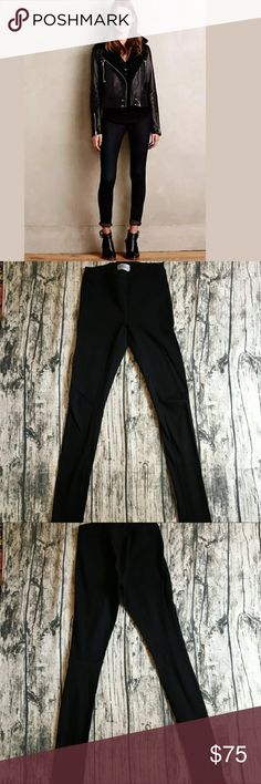 AG Adriano Goldschmied   Knit Luxe Denim Legging Seaming creates a faux-pocket effect on these soft, woven AG legging jeans. Covered elastic waist.  Wash cold Ag Adriano Goldschmied Jeans Skinny
