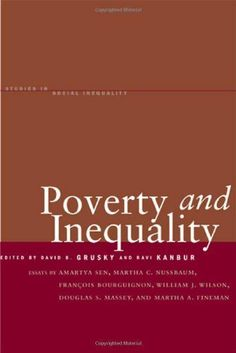Poverty and Inequality by David Grusky. $16.38