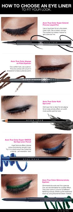 How to choose an eyeliner to fit your look #AvonCanada