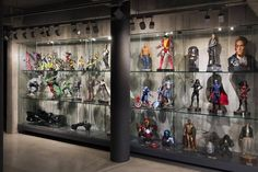 Step inside the Ultimate Collectors Secret Base Wall Display Case, Toy Display, Display Shelves, Display Cabinets, Geek Room, Otaku Room, Man Cave Home Bar, Industrial Living, Step Inside
