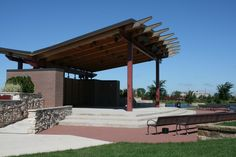 Outdoor wooden park stage | Town of Munster: Entertainment Stage II