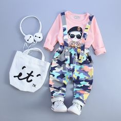 YTS Multi Colored Cotton Printed Dungaree  #YTS, #Multicolored, #Printed