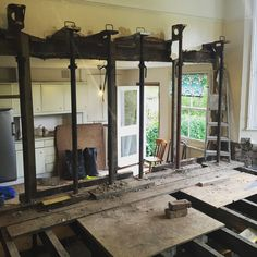 Before that spacious is fitted, the brute force builders need to take centre stage. Steel Frame House, Load Bearing Wall, General Construction, Building Contractors, Architecture Images, Basement House, Steel Beams, Uk Homes, Reinforced Concrete