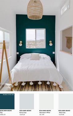 Gray and Teal Bedroom New Beautiful Bedroom Color Scheme Teal Misty Gray Teal Wall Colors, Teal Accent Walls, Accent Wall Colors, Bedroom Wall Colors, Teal Walls, Bedroom Color Schemes, Bedroom Green, Teal Bedroom Walls, Teal Master Bedroom
