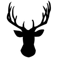 Deer Head Chalkboard Wall Decal by WilsonGraphics on Etsy, $22.00