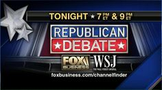 The Republican presidential candidates will square off Tuesday night in two live debates on Fox Business Network.