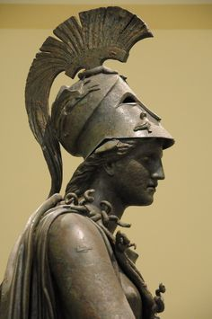 Athena, 4th century BC, Archaeological Museum Piraeus Ancient Greek Sculpture, Ancient Greek Art, Greek Statues, Greek And Roman Mythology, Greek Gods, Objets Antiques, Roman Sculpture, Bronze Sculpture, 7 Arts