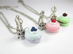 BFF Paris Macaron Necklace Friendship Necklace (3pcs). $20.00, via Etsy. - https://www.facebook.com/different.solutions.page