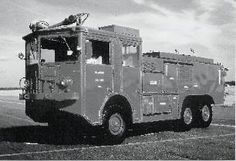 A 011-A crash-fire truck at Chanute AFB 1968
