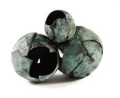 Diana Pantea - Brooch, 2014: copper, patina, steel.