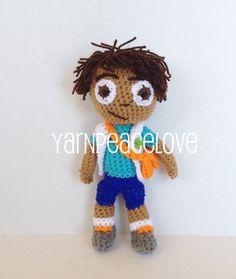Crochet Diego inspired doll by YarnPeaceLove    www.facebook.com/YarnPeaceLove