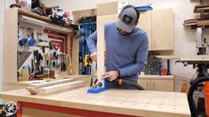Build your own Table Saw Outfeed Table today! **FREE PLANS and Full Video Tutoral** Make this in one day with only a few tools needed. Build A Table, Diy Table, Tablesaw Outfeed Table, Workbenches, Used Table Saw, Workbench With Storage, Assembly Table, Tool Bench, Workshop Storage