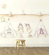 """Mural infantil de papel pintado """"Indias I"""""""