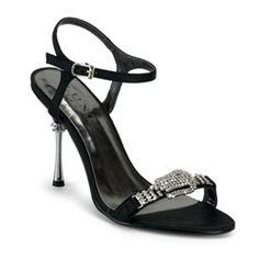 Black Rhinestone Salsa Dancing Shoes