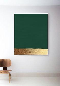 Dark Green Art Print Hunter Green Print Green And Gold Prints Modern Art Print Green Painting Abstract Art Minimal Green Wall Art - Painting Green Wall Decor, Green Wall Art, Green Art, Green And Gold, Modern Art Deco, Modern Wall Decor, Modern Art Prints, Art Mural Vert, Art Vert