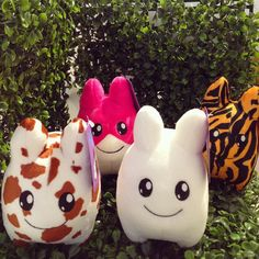 How cute are these Littons?!! You can adopt them now in-store and online at Mindzai.com (all 6 styles are available) #Kidrobot #litton #labbit #cute #kawaii #art #toy #arttoy #vinyltoy #designertoys #collectible #mindzai #markham #toronto