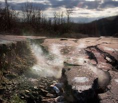 Centralia, Pennsylvania - A ghost town. A fire has been burning beneath the city since 1962...